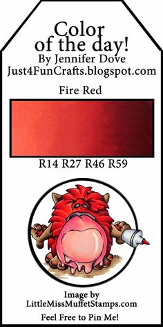 and DoveArt Studios: Color of the Dat 138 - Fire Red Copic Marker Art, Copic Pens, Copic Art, Copic Sketch Markers, Copics, Copic Color Chart, Copic Colors, Color Charts, Copic Markers Tutorial