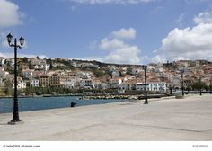 Photo about The town of Pylos, southern Greece, captured at dusk. Image of port, journey, sightseeing - 4301871 Paradise On Earth, Village Houses, Greece, Tourism, Dolores Park, Coastal, Places To Visit, Things To Come, Street View