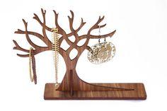 Wooden Jewellery Tree   Wooden Jewellery Organiser by The Laser Co