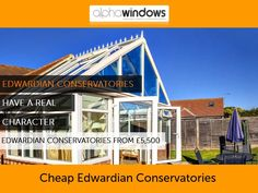 Cheap Edwardian Conservatories - Alpha Windows can show you the options available to create your perfect conservatory to suit your home