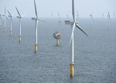 316.8MW Sheringham Shoal Offshore Wind Farm off the North coast of Norfolk comprising 88 Siemens 3.6MW Turbines each one being 81.75m to Hub Height and incorporating a 107m Rotor (Courtesy Statoil).