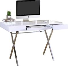 Cevallos Computer Desk with 2 Drawers