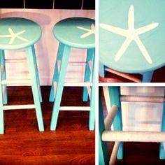 Starstruck -DIY Coastal Starfish Stencil Ideas for Furniture