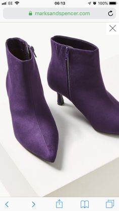 Buy the Wide Fit Kitten Heel Ankle Boots from Marks and Spencer's range. Kitten Heel Ankle Boots, Kitten Heels, Heeled Mules, Peep Toe, Booty, Fitness, Stuff To Buy, Shoes, Collection