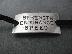 STRENGTH ENDURANCE SPEED Wrap Bracelet  - Running Jewelry - Nickel Silver Pendant on 3 feet of Micro Fiber Suede - Track Jewelry