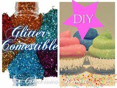 Diamantina o glitter comestible (azúcar de colores)