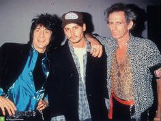 With Ronnie Wood & Keith Richards