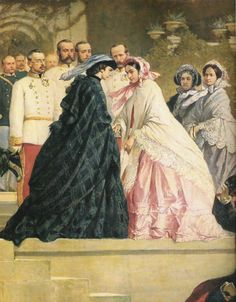 Empress of Mexico | Empress Sisi greeting Empress Carlota of Mexico, her sister-in-law.
