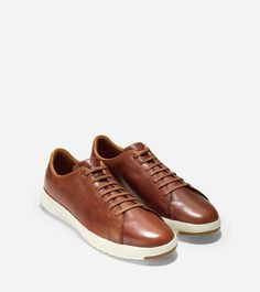Grandpro  Leather Tennis Sneakers by Cole Haan - Woodbury Handstain cc1838003e98e