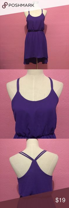 Summer purple high low dress Summer purple hi low dress Forever 21 Dresses High Low