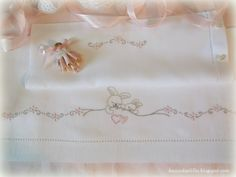 Lavender and Lilac : Embroidered Baby Sheets - Bunny Baby Embroidery, Silk Ribbon Embroidery, Hand Embroidery Designs, Embroidery Stitches, Baby Crib Sheets, Baby Bedding Sets, Sewing Collars, Smocking Plates, Patchwork Baby