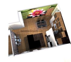 Interiores e Companhia: #sala #cozinha #kitchenette