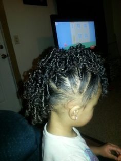 Biracial hairstyles, toddler hairstyles, Mohawk, faux hawk, curly hair, mixed girls. Beautiful girls hair styles