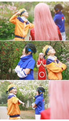 team7, sakura haruno, sasuke uchiha, naruto uzumaki, haruno sakura, uchiha sasuke, uzumaki naruto, cosplay