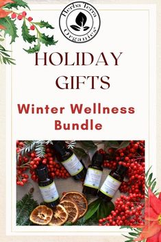 Wellness gifts are perfect for anyone, as we all  could benefit from the health advantages of essential oils during the cold and darker months of the year. Winter Wellness Bundle - This Bundle includes Eucalyptus, Cedarwood, and Orange oils which everyone should have in their winter wellness kit to prevent and treat cold and flu, respiratory infections, and other winter-related ailments. Tap the image to read our 2020 gift guide #essentialoilgiftguide #herbaterraorganics #organicoils