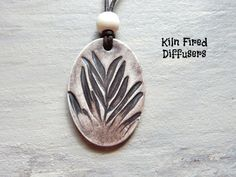 Rustic Essential Oil Diffuser Necklace by KilnFiredDiffusers