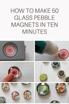 Glass Pebble Magnets: How to Make, Personalize, Package, Price & Sell - diy crafts Arts And Crafts For Teens, Art And Craft Videos, Crafts To Make And Sell, Sell Diy, Easy Diy Crafts, Diy Crafts For Kids, Gem Crafts, Beaded Crafts, Kids Diy