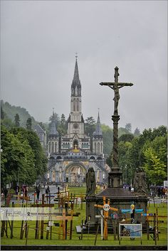 Cloudy day in Lourdes | France