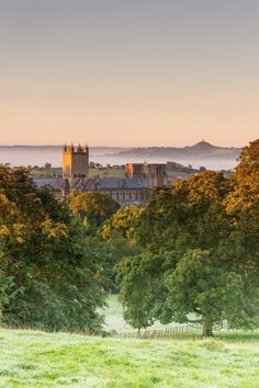 Wells Cathedral and Glastonbury Tor -