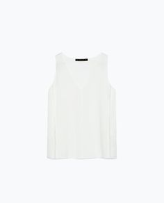 Image 8 of TOP WITH FRINGED FRONT from Zara