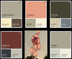 Benjamin Moore:  Gray, cream, tan paint colors