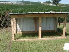 New Goat Shed And Weaning Kids