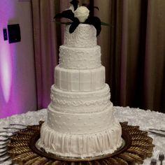 Fun tech brides cake