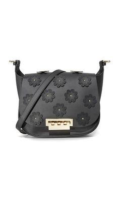 6711afc2650 ZAC ZAC POSEN Floral Applique Eartha Iconic Saddle Bag. #zaczacposen #bags # shoulder