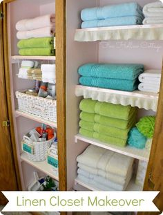 linen closet organization - when the water heater is moved