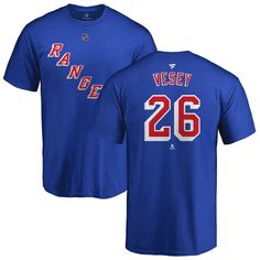 7ced51509 Men's New York Rangers Fanatics Branded Blue Custom Team Authentic T-Shirt