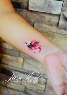 mini watercolor tattoos - 50+ Magnolia Flower Tattoos <3 <3