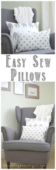 Easy Sew Pillows and Nursery Sneak Peek - A Burst of Beautiful