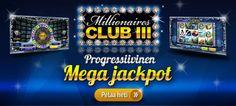 Millionaires Club 3 hedelmäpelin progressiivinen jättipotti on kasvanut jo yli 800 000 euron suuruiseksi! Euro, Club