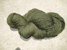 Sock Yarn  BFL Wool Nylon Blend  Avocado by GraceandFiber on Etsy, $19.75