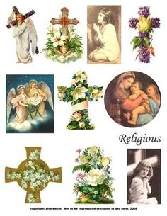 Digital Collage Sheet Download Religious Cross Images #angels #cross #religious