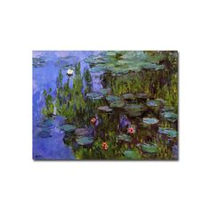 Trademark Fine Art ''Sea Roses'' Canvas Wall Art by Claude Monet, Multicolor