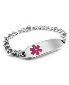 Myiddr Pre Engraved Customizable Pacemaker Medical Alert Id Bracelet Purple Symbol Ch116izngyz