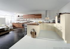 #Kitchen Idea of the Day: Modern Cream-Colored Kitchens. (By ALNO, AG)