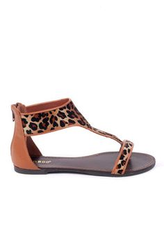 ba87620910a203 Bella Leopard Sandals in Leopard  21 at www.tobi.com Leopard Sandals