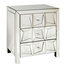 Pulaski Furniture | Home Meridian - We think this jazzy mirrored chest looks great in a living room or bedroom area. The size allows for this chest to work almost anywhere. The three drawers offer functionality, while the mirrored drawer fronts add an understated flair.