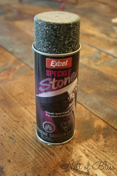 Excel Speckle Stone Granite Spray Paint - DIY Covering Countertops - Faux Granite Makeover! - Nest of Bliss