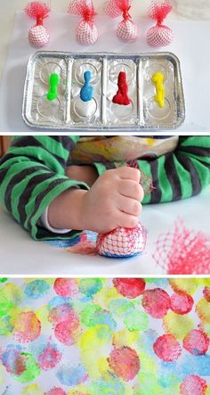 Kids Crafts, Toddler Crafts, Projects For Kids, Diy For Kids, Arts And Crafts, Infant Art Projects, Art For Toddlers, Easy Crafts, Toddler Play