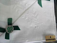 Vintage Irish Linen White Handkerchiefs Two in Original Box  offered by #rubylane shop #Saltymaggie's Treasures