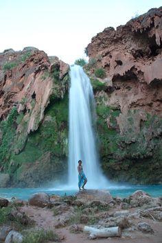 Be one with nature. Havasu Falls in Havasupai, AZ