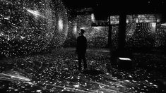 """""""POETIC AI"""" by  Ouchhh, an exhibition with 20 million lines of text, 50K pixel, 136 projectors..."""