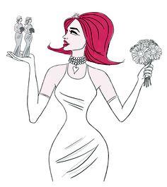 Illustration for Square Meal Weddings Magazine 2013. #girlyillustration #illustration #fashion #feminine