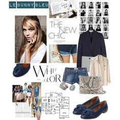 Le Bunny Bleu - Navy Color Petal Loafers, created by #lebunnybleu on #polyvore. #fashion #style #Acne Stella McCartney