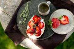 strawberry feta bruschette