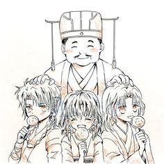 Yona of the dawn: young Soo-wan, Hak and Yona