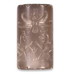 Achaemenid Persian Cylinder Seal With Ahura-Mazda,    C....